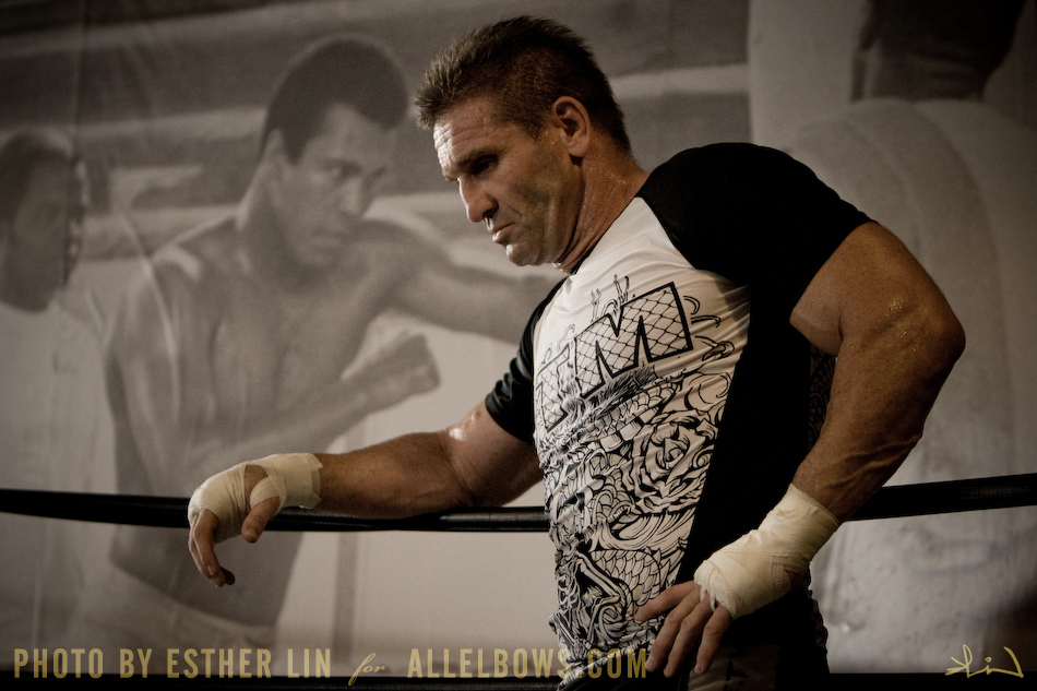 Ken Shamrock considers his actions.  Perhaps.