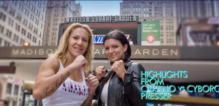 Gina Carano and Cris Cyborg in New York