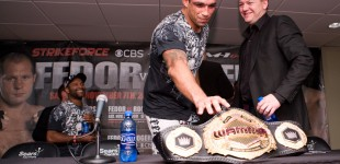 Fabricio Werdum tries to steal belt
