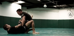 Jake Shields grappling with Jesse Juarez