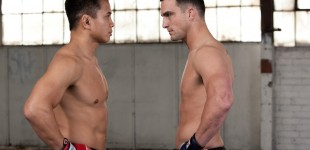 Cung Le faces off with Scott Smith