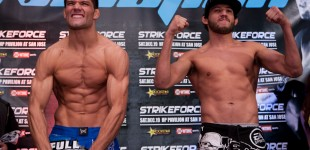 Josh Thomson and Gilbert Melendez