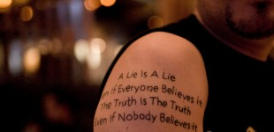Joe Silva's atheist tattoo