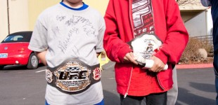 Kids and UFC belts