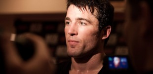 Chael Sonnen talks to the media