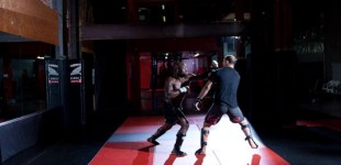Mo sparring with Siyar