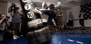 UFC 115 WORKOUTS & PRESSER