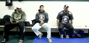 Lolohea Mahe and Bobby Voelker waiting