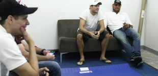 Ryan and Randy Couture backstage before fight