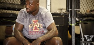 King Mo Lawal after workout