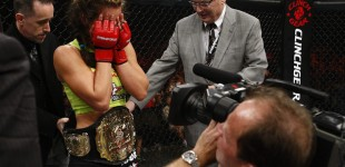 Miesha Tate overcome with emotion