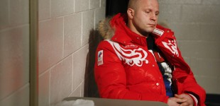 Fedor Emelianenko in locker room