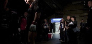 Fedor waiting in tunnel