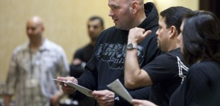 Dana White and Joe Silva at TUF tryouts