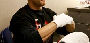 Justin Wilcox tests handwraps