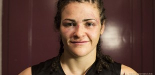 Amanda Bell post-fight